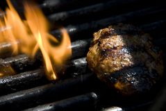 Grill flame stock photos