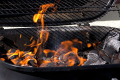 Grill flame Royalty Free Stock Photos