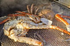 Grill fresh taraba crab Stock Image