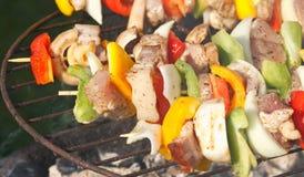 Grill in garden stock photos