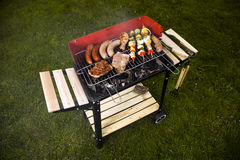 Grill in garden Royalty Free Stock Photo