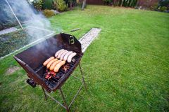 Grill in garden Royalty Free Stock Photography