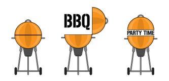 Grill-Grafikdesigne stock abbildung