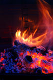 Grill-Grillflamme BBQ Lizenzfreie Stockbilder