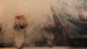 Grill grliling shish kebab zdjęcie wideo