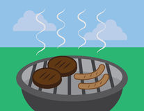 Grill Hamburger Hotdog Stock Photography