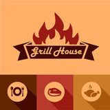 Grill house design elements Royalty Free Stock Photography