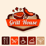 Grill house emblem Stock Images