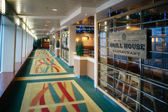Grill House restaurant, Baltic Queen cruise ferry Stock Image
