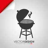 Grill icon design Stock Images