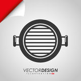 Grill icon design Royalty Free Stock Photos