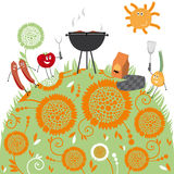 Grill, Illustration Lizenzfreies Stockfoto