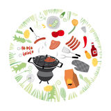 Grill, Illustration Lizenzfreie Stockfotografie