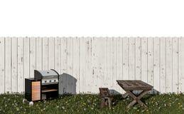 Grill im Garten stock abbildung