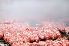 grill kiełbasy Fotografia Royalty Free