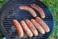grill kiełbasy Zdjęcia Royalty Free
