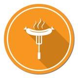 Grill kiełbasy ikona Obraz Royalty Free