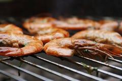 grill krewetek. Zdjęcie Royalty Free