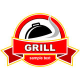 Grill label design. Royalty Free Stock Photography