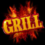 Grill label Royalty Free Stock Photo