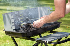 Grill lighting Royalty Free Stock Photography