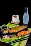 Grill Mackarel fish japanese food Royalty Free Stock Photo