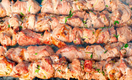 Grill meat on a charcoal Stock Photo