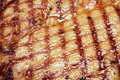 Grill. Meat grill on full screen Stock Image
