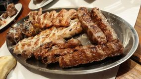 Grill meat. Picture of grill meat Royalty Free Stock Photo