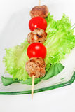 Grill meat with tomato Royalty Free Stock Photos