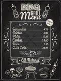Grill-Menü-Tafel Stockfoto