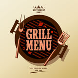 Grill menu. Grill Menu Card Design template Stock Images