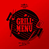 Grill menu. Grill Menu Card Design template Stock Photos