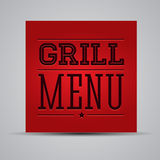 Grill menu. Print template red Royalty Free Stock Image