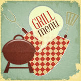 Grill Menu stock illustration
