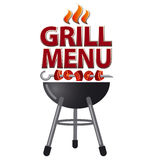 Grill menu card design. Illustration for grill menu card design Stock Photos