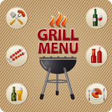 Grill menu card design Royalty Free Stock Photography
