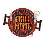Grill Menu Card Design template Stock Image