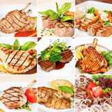 Grill menu collage Stock Photos