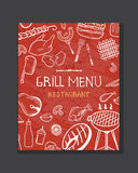 Grill menu concept Stock Photography