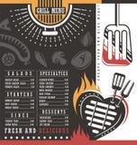 Grill menu design Stock Photo