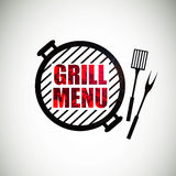 Grill Menu Design. Illustration of a Grill Menu Design Template Stock Image