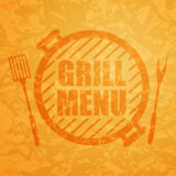 Grill Menu Design Template. Illustration of a Grill Menu Design Template Stock Image