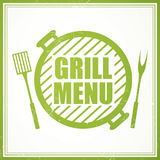 Grill Menu Design Template Royalty Free Stock Images