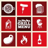 Grill menu. Design, vector illustration eps10 graphic Royalty Free Stock Photography