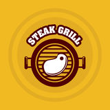 Grill menu Royalty Free Stock Images