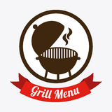 Grill menu. Design, vector illustration eps10 graphic Royalty Free Stock Photos