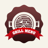 Grill menu Royalty Free Stock Photo