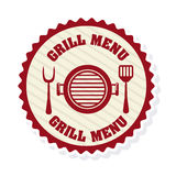 Grill menu. Design, vector illustration eps10 graphic Stock Photos