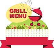 Grill menu –  illustration Stock Photos